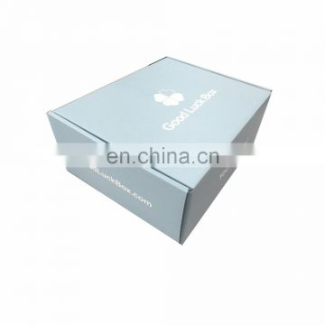 Flat pack light weight custom light blue color shipping boxes 10*8*4 inches