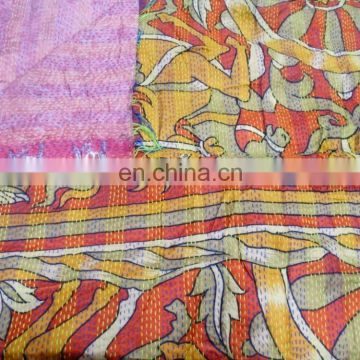 Indian Vintage Silk Stole & Scarf Long Reversible Dupatta Silk