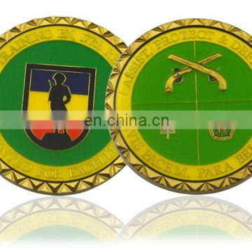 Customized design gold metal antique coin