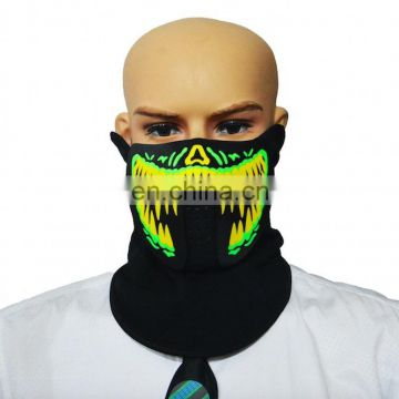 Party decoration el panel sound activated led mask