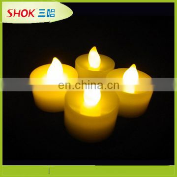 Party decoration flameless moving wick led candle
