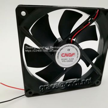 CNDF made in china factory provide 120x120x25mm 24VDC 0.23A 5.52W 2200rpm cooling fan use for computer cooling TFS12025H24