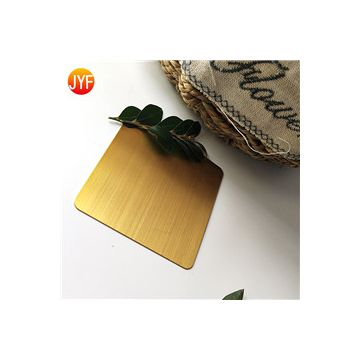 JYFQ-008 316 4x8 GOLD hairline decorative stainless steel plate