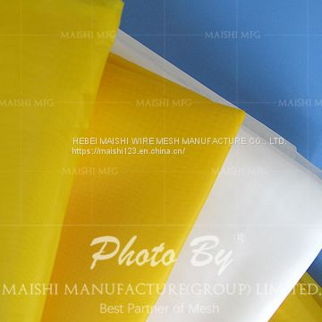 High-strength yellow polyester printing mesh