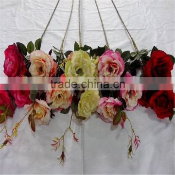 making crystal rose flower artificial rose polyester artificial flower