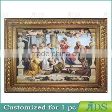 1Pc Customized Golden Wooden Picture Frame