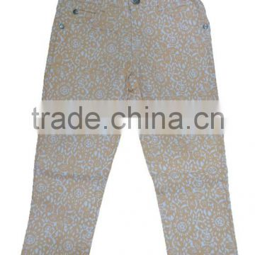 GIRLS PRINTED TWILL PANTS
