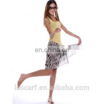 classical polyester zebra printing beach sarong pareo