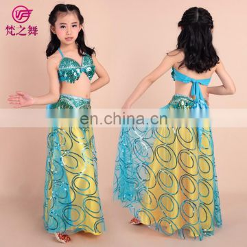 Sweet lovely beaded indian style belly dance wear for kids ET-066