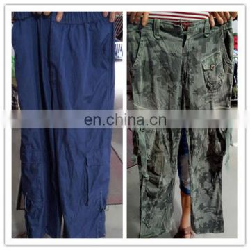cargo six pocket pants used clothing from germany remake clothes