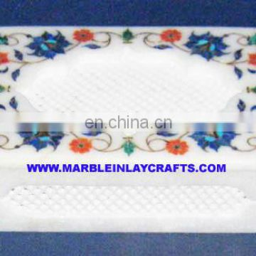 Marble Inlay Design Jewellery Box, Marble Handcrafted Jewellery Box