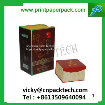 Custom Logo Printed Rigid New Year Gift Box Wine Packaging Cardboard Paper Tea Packaging Boxes