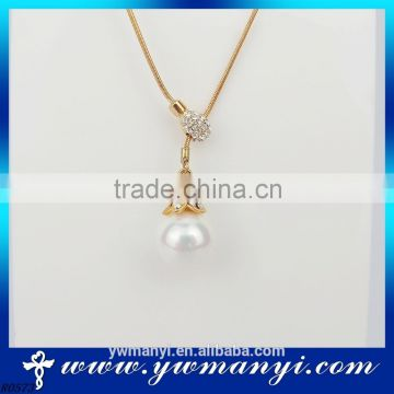 New fashion pearl necklace for women pearl pendant necklace designs N0719