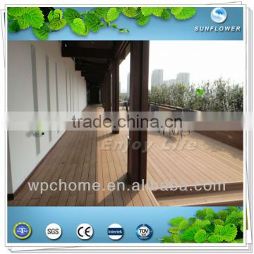 Antiseptic wood plastic composite decking, waterproof laminate flooring, outdoor deck