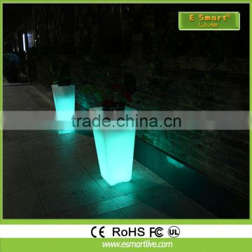 Multi color changing RGB outdoor solar led plant pot light from 5 years Dongguan simu lighting factory