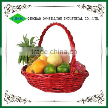 Wholesale empty wicker woven artificial fruit basket