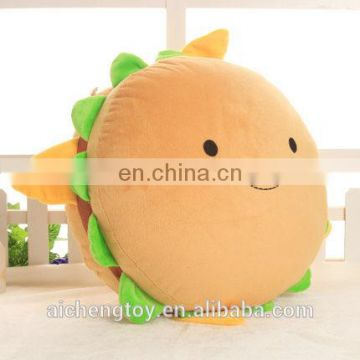 OEM customized hot sale high quality hamburger plush toy