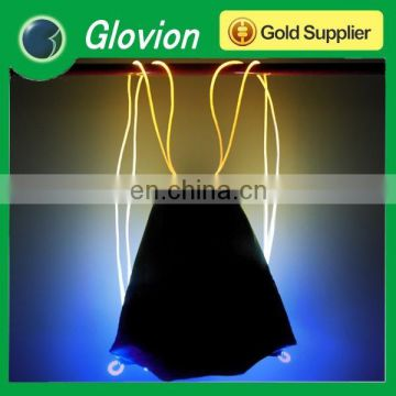 Hot selling electric cooler bag convenient flashing bag led glowing in dark bag