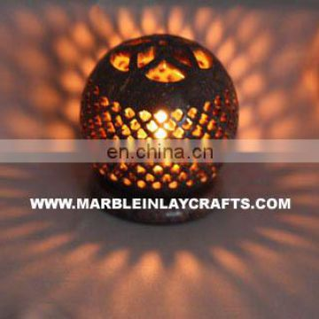 Luxurious stone carved candle lamp