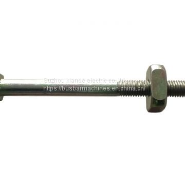 Carbon Steel Double Headed Bolt M12*115 For Busbar Joint Connection