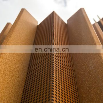 Landscape ASTM A588 steel plate for corten house cladding
