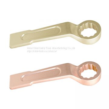 non sparking hand tools aluminum bronze alloy offset slogging ring wrench