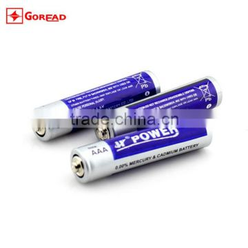 HJPOWER R03P zinc carbon 1.5V dry AAA battery