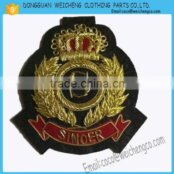 a262b6f9f94c8 Hand made badges wire badges  Hand Embroidery Mylar Brazil Army Military  Uniform Patch Badge Insignia Cap Beret of Hand Embroidery Badges from China  ...