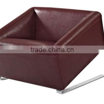Leather reclining single sofa chair bed
