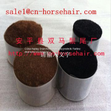 white and black horse body hair