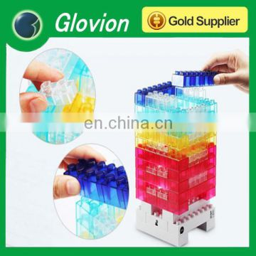 Glovion elecbank creative DIY toy bricks light decorative night light 3-level dimmable touch switch LED lamp