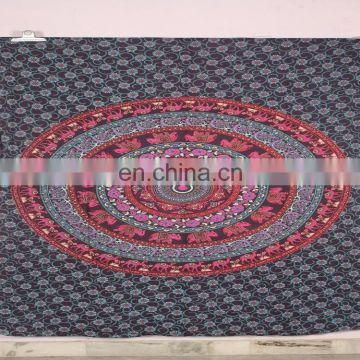 Indian Tapestry Wall Hanging Hippie Elephant Mandala Bedspread Ethnic Throw Art