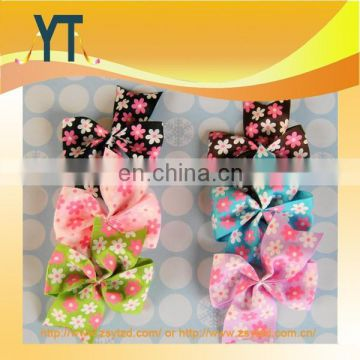 Polka Dot And Flower Printing Big Bowknot Hair Bow/Barrette/Hair Pin