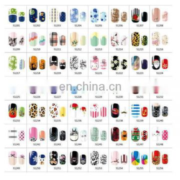 Latest wholesale nail sticker nail arts design