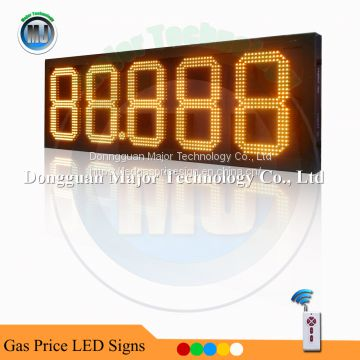 RF Wireless Control Outdoor 12inch 88.888 Yellow LED Digital Gas Price Sign