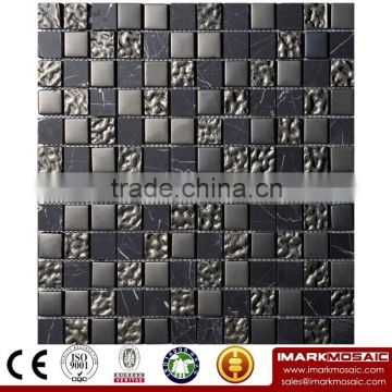 IMARK Mixed Color Crystal Glass Mosaic Tiles Mix Marble Mosaic Tiles Code IXGM8-014 for Bathroom Wall Splash