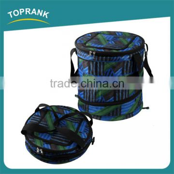 Custom color large insulated cooler buckets, 600D foldable ice bucket