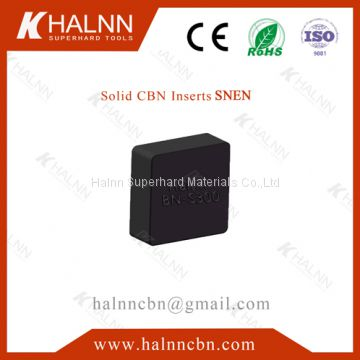 BN-S300 Solid CBN Insert Fine Milling Engine Block achieve roughness Ra1.6