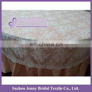 TL002W2 white wedding lace table cover