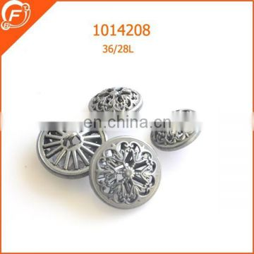 metal anti siliver plating button for jean clothings decoration