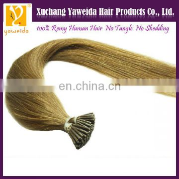 Best selling quality keratin fusion i tip human hair extensions wholesale hair