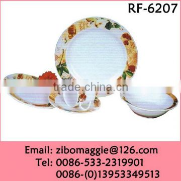 20pcs Promotional Designed Hot Sale Ceramic Dinner Set Dinnerware for Children