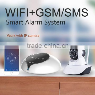 Intelligent smart home security wifi alarm system chic design advantage technology support remote update