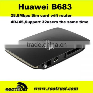 Cheap huawei B683 3g sim card wireless router