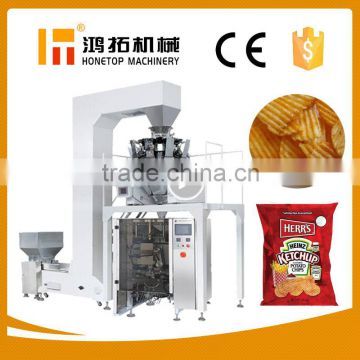 Price of potato chips packaging machine with nitrogen filling, small snack  food plantain pringles crisps packing machine , Quality Choice