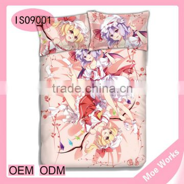 Touhou Project Flandre Scarlet Remilia Scarlet Anime queen size modern duvet cover bed sheet sets
