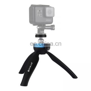 Newest camera Tripod ,PULUZ Pocket Mini Tripod Mount with 360 Degree Ball Head & Phone Clamp for Smartphones(Blue)