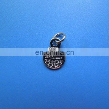 small jewelry decoration custom logo silver pendant