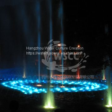 Fountain show musioc dancing fountian LED show fire show water screen in the river or lake