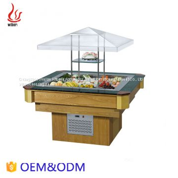 Good price Counter Top Marble Island Type Salad Bar display equipment